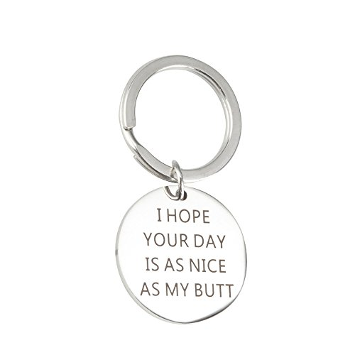 Meiligo Boyfriend Girlfriend Gift Jewelry I HOPE YOUR DAY IS AS NICE AS MY BUTT Necklace Key Chain Pendant (Key Chain) (Key Hope)