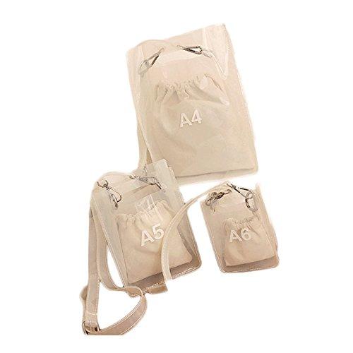 GJ Bolso Crossbody - Bolsos de hombro Femeninos Paquete de Jelly Mensajero Portátil Paquete Transparente Bolso de Ocio Bolsos de Dama de Moda (Color : A5-15*7.5*21cm) A6-10.5*5*15cm