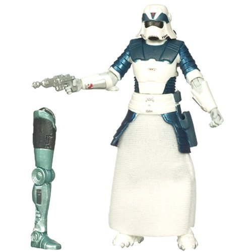 Star Wars Year 2009 Legacy Collection Droid Factory Series 4 Inch Tall Action Figure - BD48 Episode V Concept Art SNOWTROOPER with Blaster Pistol, Backpack and Droid BHK-50's Right Leg