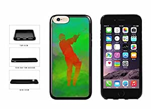 Cricket Game on Green Background TPU RUBBER Phone Case Back Cover Apple iphone 6 4.7 ( es screen) includes fashion case Cloth and Warranty Label