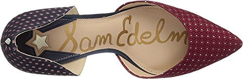Sam Edelman Women's Telsa D'Orsay Pump Red Multi/Blue Multi Medallion Tie Fabric/Geometric Tie Fabric discount fast delivery amazing price footaction online latest sale online BafmXx