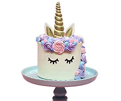 Amazon Giga Gud Unicorn Cake Topper Gold Unicorn HornEars And