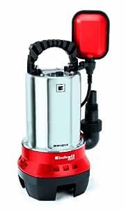 Einhell GH-DP 5225 N - Bomba de aguas sucias, asa de transporte, caudal 10000 l/h, 520 W, 230 V, color rojo y negro