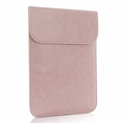 All-inside Pink Synthetic Leather Sleeve for MacBook Air 13""