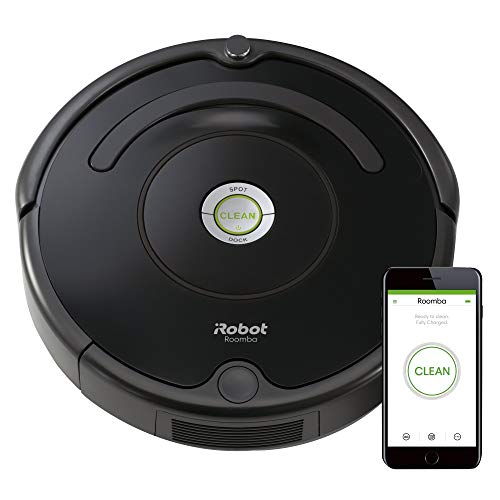 iRobot Model 671 Robot Vacuum with Wi-Fi Connectivity, Works with Alexa, Good for Pet Hair, Carpets, and Hard Floors, Roomba, Clear