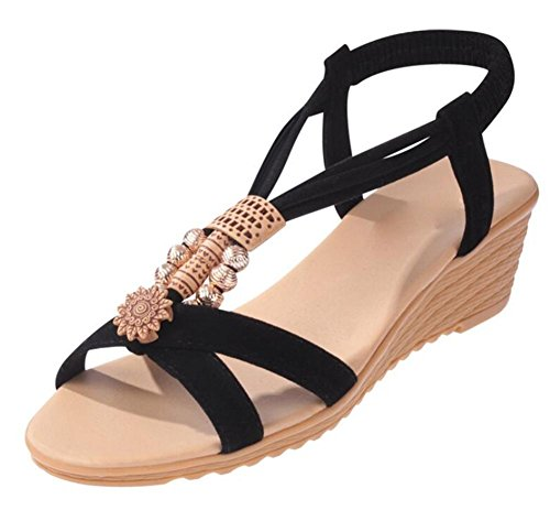 Sandalen für Damen Sandalen wulstige black