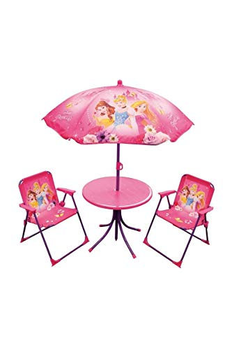 Fun House 712348 Disney Princess Children's Garden Furniture Set with 1 Table / 2 Chairs / 1 Parasol (Garden Uk Sets Patio)