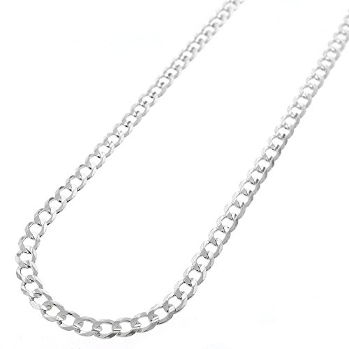 """Sterling Silver Italian 4mm Cuban Curb Link ITProlux Solid 925 Necklace Chain 16"""" - 24"""" (18)"""