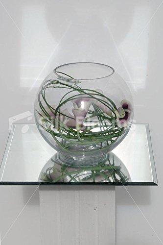 Morado Vermeer Lily Artificial pantalla y pecera Jarrón Diseño de flores: Amazon.es: Hogar