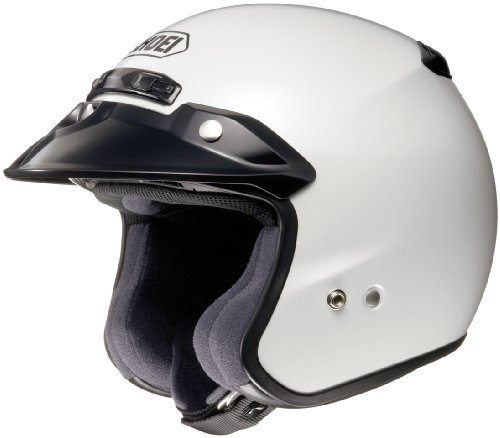 Shoei RJ-Platinum R Crystal White Open Face Helmet - Large