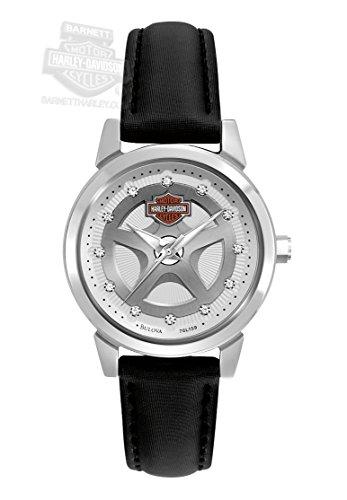Harley-Davidson Women's Bulova Watch. Leather strap. Swarovski. 76L159 by Harley-Davidson