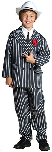[RG Costumes Gangster Costume, Black/White, Small] (Cool Couples Halloween Costumes)