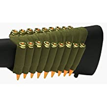 OD Green 18 Round Rifle Ammo Cartridge Hunting Stock Buttstock Slip Over Carrier Holder Fits .308 308 Federal Arms HK91 G3 Ambidextrous Bolt Lever Pump Action Sniper Hunting Rifle