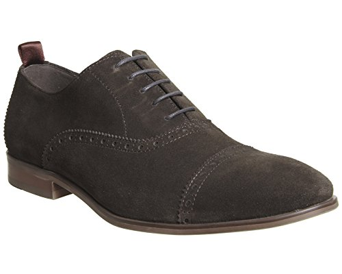 Ask The Missus Herren Schnürhalbschuhe Chocolate Suede