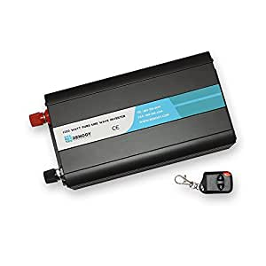 Renogy 1000W 12V Off-Grid Pure-Sine Wave Battery Inverter w/ Cables