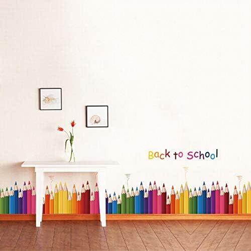 Pegatina pared lapices de colores vuelta al cole 1.40 x 40 cm ...