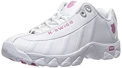 K-Swiss Women's ST329 CMF Trainer Lifestyle Sneaker, White/Shocking Pink, 5 M US