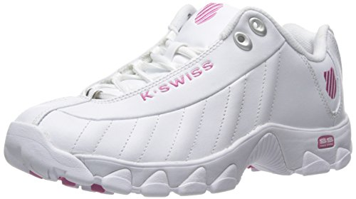 White K Mujer Rosa Swiss Zapatos de Formación Pink St329 Blanco La nbsp;CMF Shocking FvFSAq