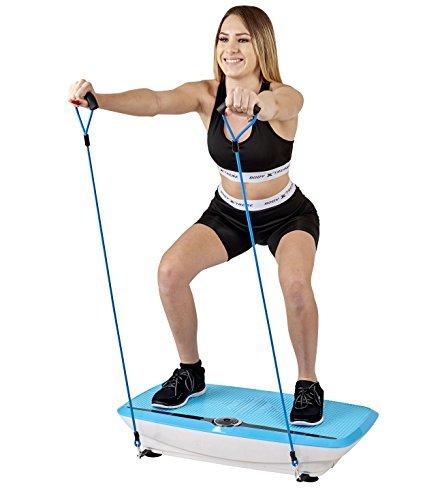 Body Xtreme Fitness Whole Body 3D Vibration Platform with Resistance Bands (Blue)