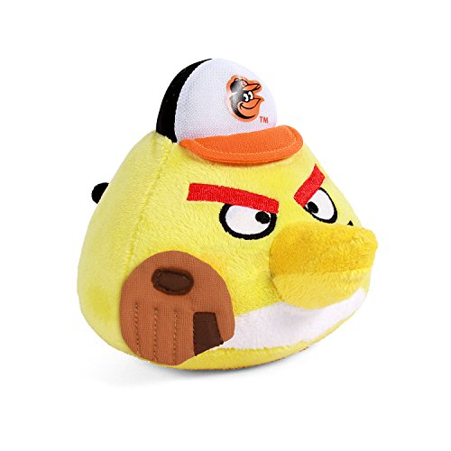 Fabrique Innovations MLB Angry Bird Plush Toy, Baltimore Orioles