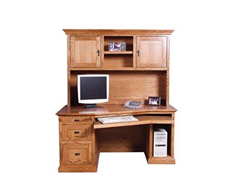 Forest Designs 60w Mission Angled Desk & Hutch 60w Merlot Oak