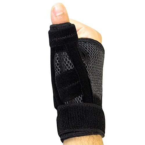 Arthritis Thumb Splint by Vive - Thumb Spica Support Brace for Pain, Sprains, Strains, Arthritis, Carpal Tunnel & Trigger Thumb Immobilizer - Wrist Strap - Left or Right Hand by VIVE