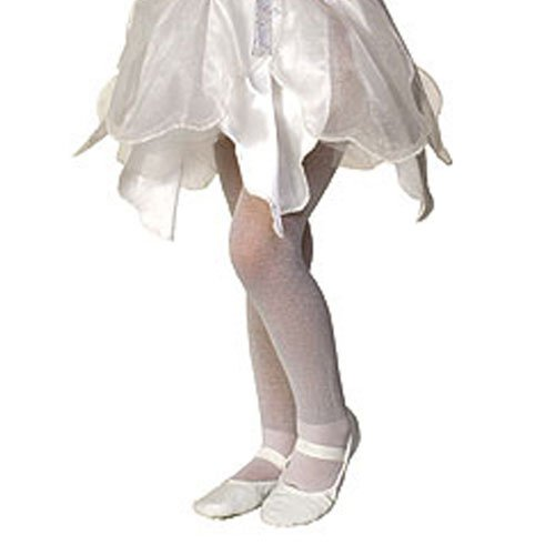 [White Sparkle Tights Child Accessory] (Tights Costumes Accessory)