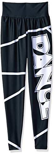 Gia-Mia Dance Big Girls' Dance Jogger Pant Hip Hop Stretch Printed Costume Performance Team, Black, S - Hip Hop Dance Team Costumes For Girls