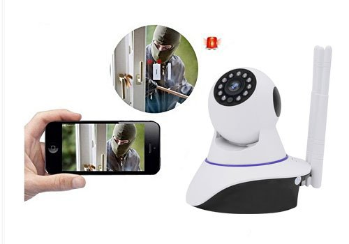 Joney Wireless HD IP Camera with 3pcs wireless antenna,Support 2 Way Audio, Day/Night Vision Webcam (1.3MP) by Joney (Image #4)