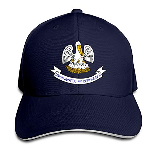- Adjustable Sandwich Hats Baseball Cap Louisiana State Flag Navy