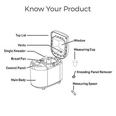 KENT - 16010 Atta and Bread Maker 550-Watt (Steel Grey) 11