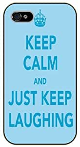 iPhone 4 / 4s Keep Calm and just keep laughing - black plastic case / Keep Calm, Motivation and Inspiration, swimming, nemo
