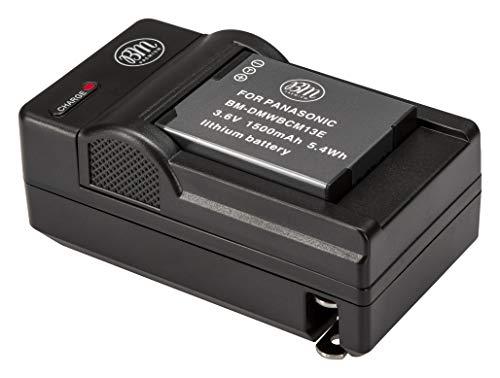 BM Premium DMW-BCM13E Battery and Charger for Panasonic Lumix DC-TS7, DMC-FT5A, LZ40, TS5, TS6, TZ37, TZ40, TZ41, TZ55, TZ60, DMC-ZS27, DMC-ZS30, DMC-ZS35, DMC-ZS40, DMC-ZS45, DMC-ZS50 Digital Cameras