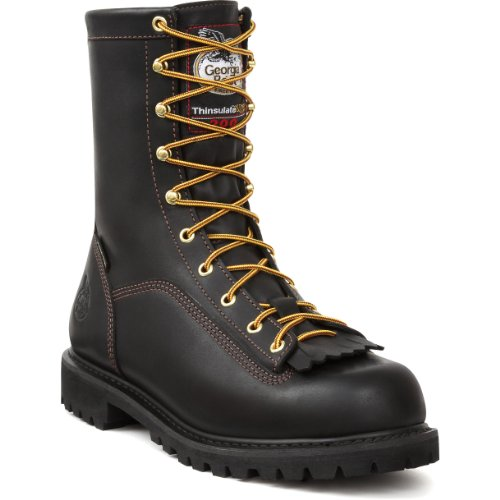 Georgia GORE-TEX Black Leather Insulated Work Boots