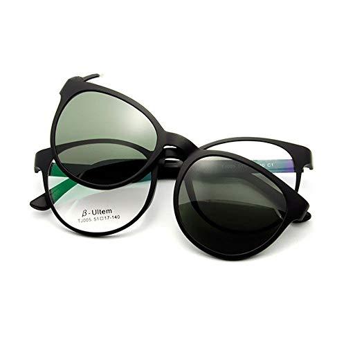 de magnético de KOMNY de imán Gafas Nocturna de de Sol miopía adsorción A B Clip Establece Espejo Espejo visión Femeninos polarizado conducción Modelos Gafas Sol de 5rAA0qRwx