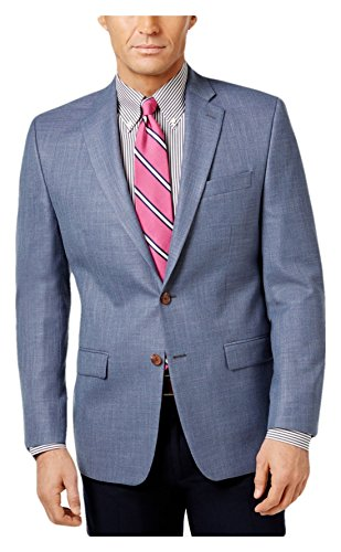 RALPH LAUREN Lauren Men's Classic-Fit Neat Ultraflex Sport Coat, Light Blue (Light Blue, 36 reg)
