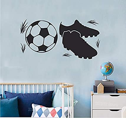 Hanjiming Football Bottes Stickers Muraux Garçons Salle De