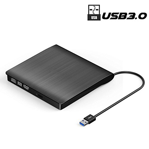 External DVD Drive, SUMBOAT USB 3.0 Portable Slim DVD CD Rom Burner Rewriter Driver,High Speed Data Transfer for Laptop Mac 10 OS Windows XP /2003/Vista/Win 7/ Win 8/Win 10 Linux by SUMBOAT