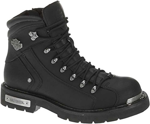 HARLEY-DAVIDSON Men's Electron Motorcycle Boot, Black, 9 Medium US