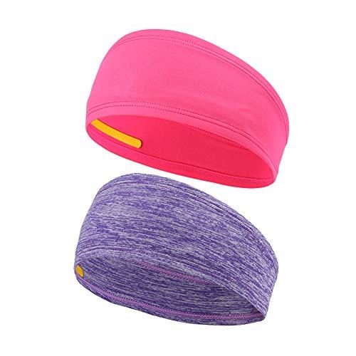 MYZJ Headband (Rose red and Stripe Purple)