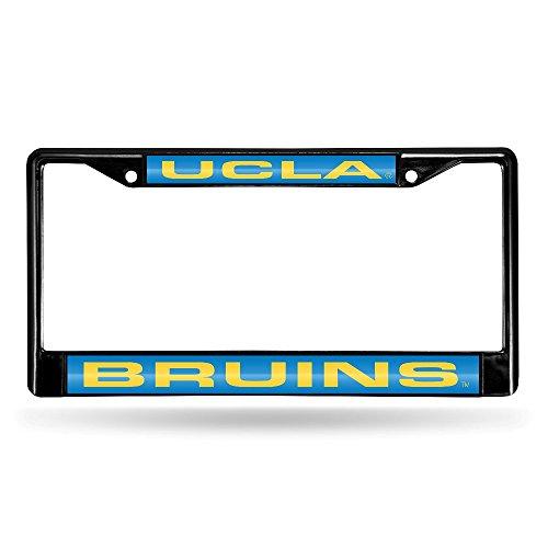 Rico Industries NCAA UCLA Bruins Laser Cut Inlaid Standard Chrome License Plate Frame, 6
