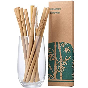 Amazon.com: Pajitas de bambú – Pajitas biodegradables – 8 ...