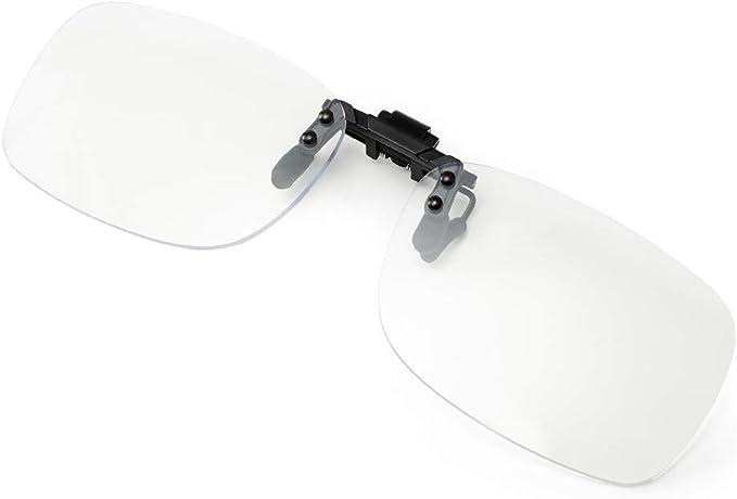 Cyxus Clip-On Yellow Lens Blue Light Filter Computer Glasses Anti Eyestrain ow