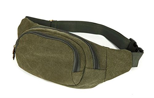 Green Mens Military Cycling Waist Fanny Pack Bum Belt Bag Pouch Travel Hip Purse New from Unknown