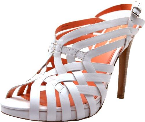 (Via Spiga Womens Platform Sandals - Phoebe High Heel 10med White)