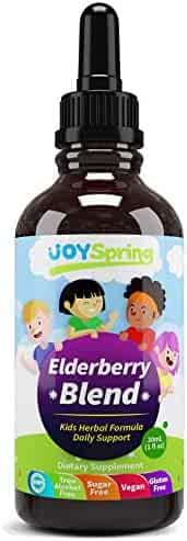 Organic Elderberry Syrup for Kids - Best Natural Kids Cold Medicine, Pure Elderberry Blend for Sickness Relief, 3X Stronger Vegan & Sugar-Free Formula to Strengthen Immune System (4 oz)