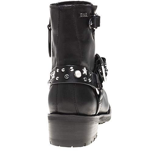 Boots Black Lagerfeld Black Karl Biker 7qAw8