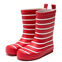 DUANGUOYAN Rain Boots- Men and Women Children Zebra Pattern Rain Boots Baby Water Shoes Rubber Shoes Non-Slip Shoes