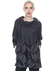 Terra-Sj Apparel Double Ply Tunic with Under Textured Pattern