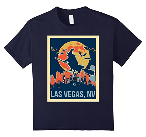 Kids las vegas nevada halloween shirt 12 Navy (Halloween Las Vegas 2017)